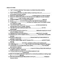 Vocab Answers Level D Sadlier Oxford Vocabulary Level D Unit 8 Sentence Review