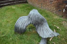 bronze mermaid garden statue by