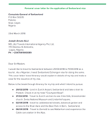 Visa Application Cover Letter Free Customised Personal Cover Letter