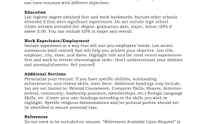 Resume Example With References Sample Resume References Free