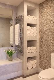 spa towel storage. Bathroom With Shelves For Towels // Love How This Feels Like A Spa! Could Spa Towel Storage O