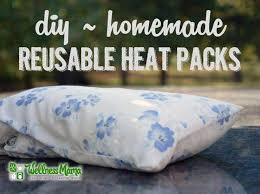 diy homemade reusable heat packs with rice