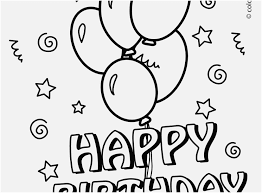Happy Birthday Balloons Coloring Pages Sinma