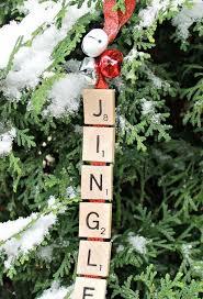 Craft Decor Tiles Jingle Bells Scrabble Ornament Scrabble ornaments Jingle bells 90