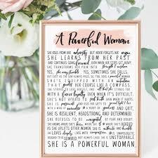 Strong Women Gift A Powerful Woman Poem Art Print 8x10 Unframed