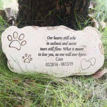 personalized pet memorial stones resin