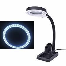 2017 5x 10x magnifier 40 led light pen holder multi function magnifying