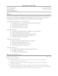 Project Management Resume Examples And Samples It Project Management