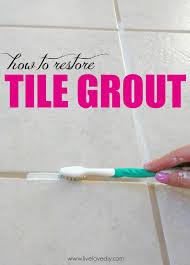 how to re dirty tile grout this is so great