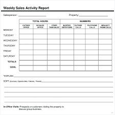 Weekly Sales Report Template Excel Endowed Impression Print Latest