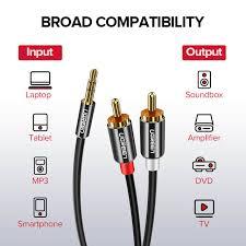 Ugreen <b>RCA Cable</b> HiFi Stereo <b>2RCA to</b> 3.5mm Audio <b>Cable</b> AUX ...