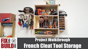 Hanging Charging Station Tool Storage And Cordless Drill Cabinet With French Cleats Youtube