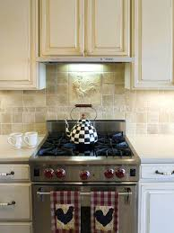 country backsplash example of a classic kitchen design in other with stainless steel appliances raised panel country backsplash french country kitchen