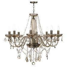 raphael eight light chandelier with champagne glass