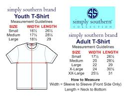 Simply Southern Size Chart 17 Exhaustive Youth Size Simply Southern Tees