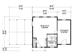 Outbuilding Plans   Sugar House Plan Offers Workspace  Kitchen and    Floor Plan  B