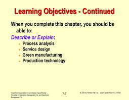 Process Design And Analysis In Operations Management Operations Management Process Strategy Chapter 7 Ppt Download