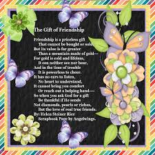 the gift of friendship by helen steiner rice sbook page by angelwings
