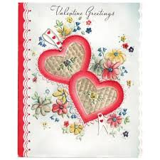 Pictures Of Hearts And Flowers Valentine Greetings Card Two Hearts And Flowers