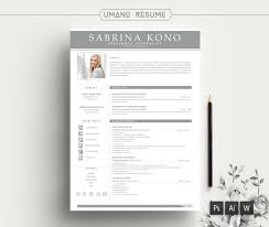Modern Resume Template Free Cover Letter For Word Ai Psd Diy Printable 3 Pack The Kono Professional And Creative Design