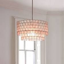 capiz zigzag chandelier