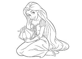 Disney Rapunzel Coloring Pages Free Coloring Pages Tangled Coloring
