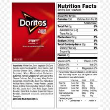 nachos cheese fries doritos fritos nutrition facts label cheese intended for nutrition label for doritos