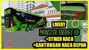 Damri royal class adalah salah satu jenis bus dengann fasilitas tertinggi yang ada di perum damri. Bussid Livery Monster Energy Hd Bussid Livery Gratis By Bussid Livery
