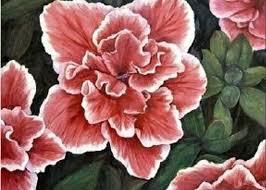 Peppermint Azalea Painting by Merle Blair