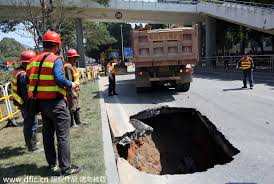 ins china recurring road cave ins in s china 1 chinadaily com cn