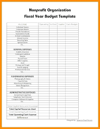 Organization Budget Template Monthly Nonprofit Excel Free