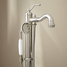 bathtub faucet and shower head. bathtub faucet with handheld shower head leta freestanding tub and