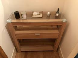 hygena cubic console table oak finish argos