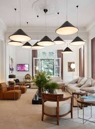 multiple pendant lighting. Living Room With Multiple Pendant Lighting One Ceiling Medallion : Medallions