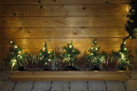 Weihnachten Blumenkasten Deko Tanne