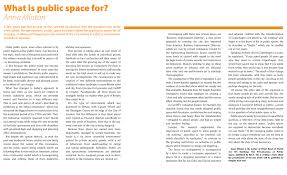 articles what is public space for
