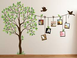 image of cute family tree wall decal paint for bedrooms decor latest creative simple paintings walls