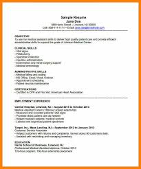 Medical Assistant Resume Examples Skills 2015 Example Medical