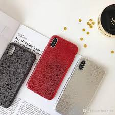 luxury bling metallic soft tpu case for iphone x 8 7 plus 6 6s 6p for iphone 8 cases silicone frosted matte cell phone back skin cover fashion pu luxury