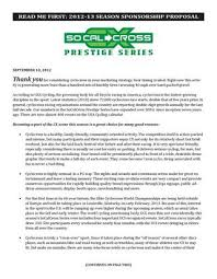 Cover Letter Sponsorship Cover Letter Sponsor Proposal By Southern California