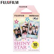 Original <b>Fujifilm Fuji</b> Instax Mini 8 <b>Shiny</b> Star Prints Film 10 Sheets ...