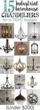 farmhouse lighting ideas. 15 industrial farmhouse chandeliers for a tight budget lighting ideas r