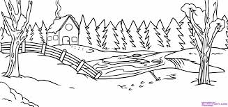 charming inspiration scenery coloring pages 28 collection of winter landscape high quality to print free for toddlers page