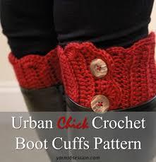 Free Crochet Boot Cuff Patterns Simple Urban Chick Crochet Boot Cuffs Pattern