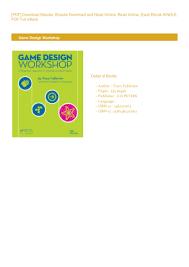 Tracy Fullerton Game Design Workshop Pdf Book Game Design Workshop Full Pages By Tracy Fullerton