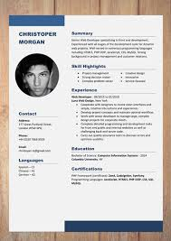 One Page Resume Format Doc Cv Resume Templates Examples Doc Word Download