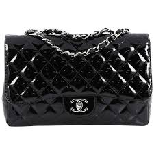 chanel classic single flap bag quilted patent jumbo for