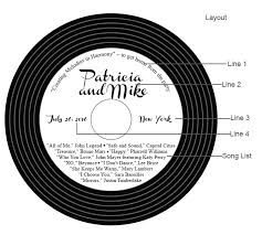 Wedding Cd Labels Personalized Vintage Record Vinyl Style Cd Labels 12 Pieces