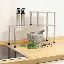 étagère De Cuisine Inox 4 étage Table Rangement étagère à épices