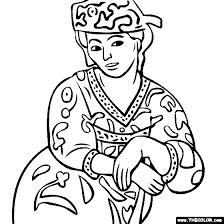 Henri Matisse Madame Matisse Rouge Coloring Page